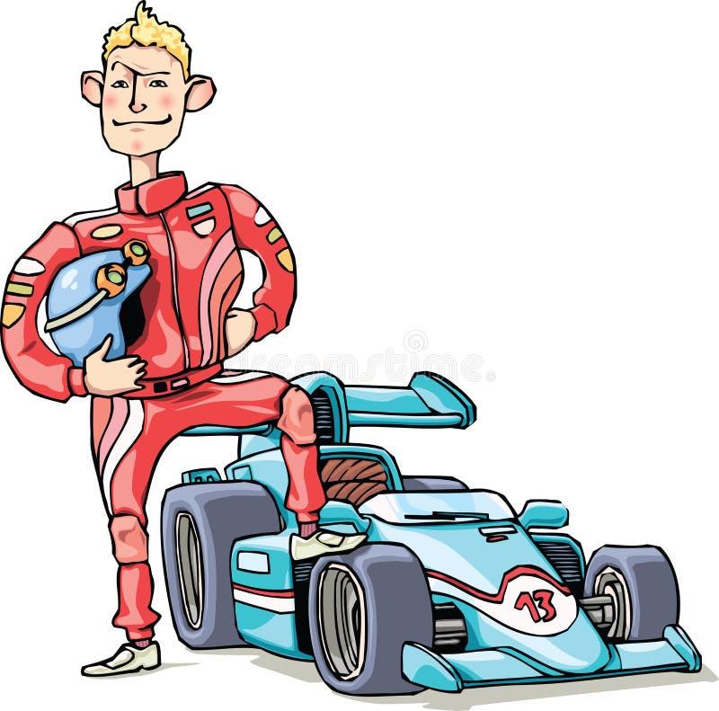 Coureur F1 illustration stock