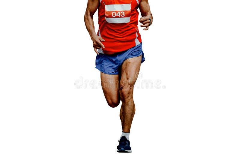 coureur musculaire d'athl?te de jambes photographie stock libre de droits