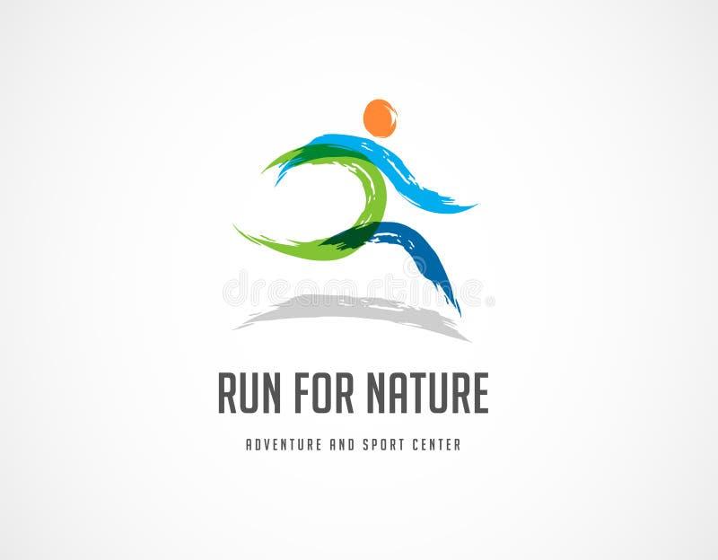Courez l'icône, le symbole, l'affiche de marathon et le logo illustration de vecteur