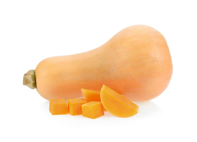Courge de Butternut d'isolement photographie stock