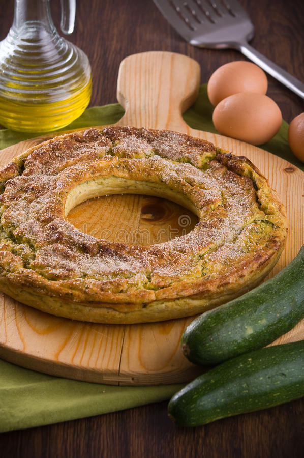 Download Courgette flan. stock photo. Image of board, food, homemade - 27677758