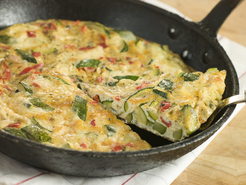 Courgette Fritatta photo stock