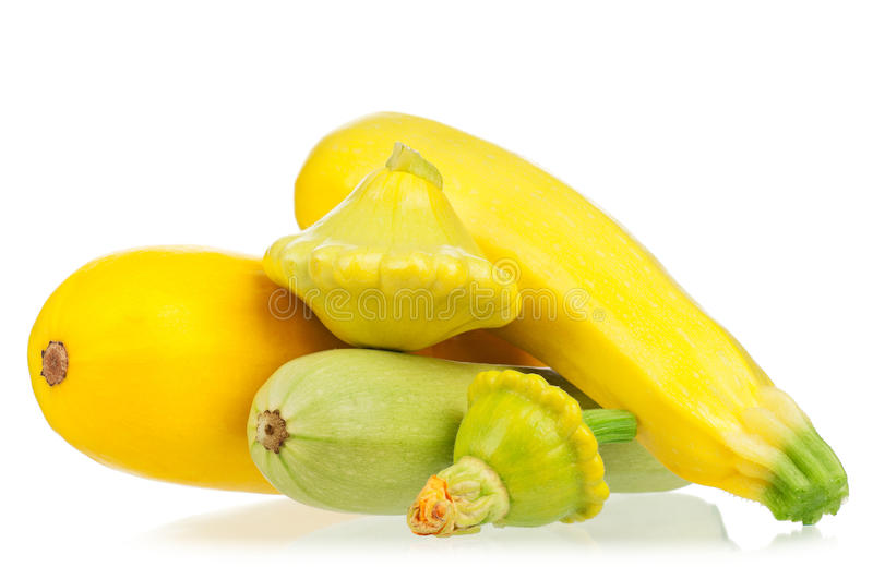 Courgette jaune images stock