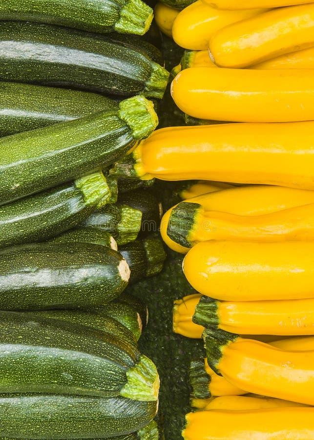 Jaune et vert de courgette photo stock