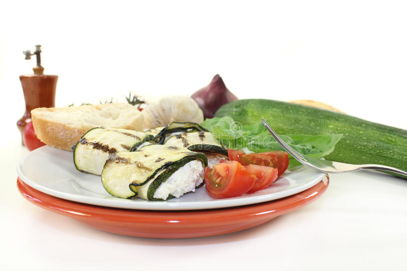 Courgette rolki obrazy stock