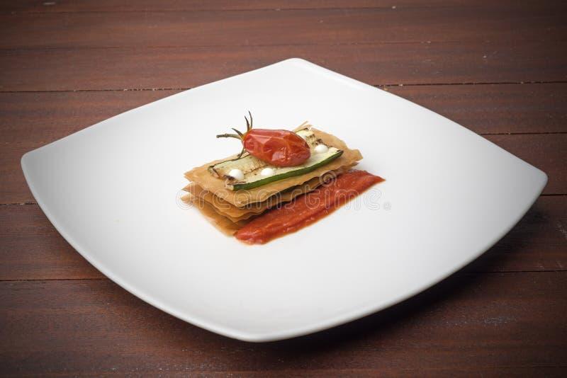Courgettesandwich royalty-vrije stock foto's
