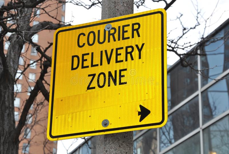 Courier deliver zone royalty free stock photos