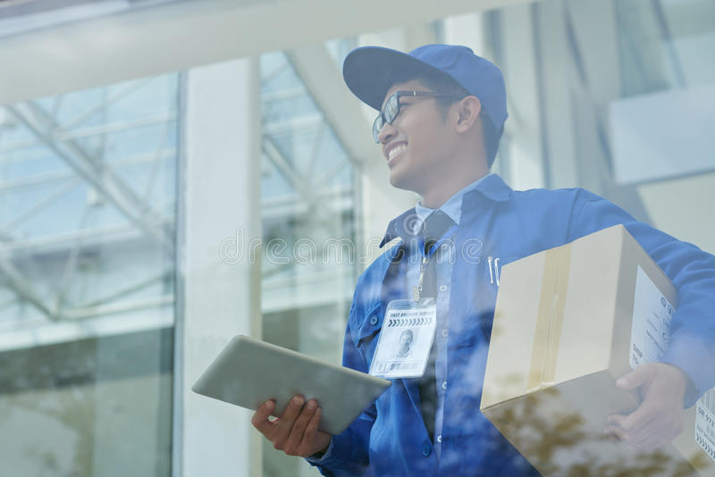 Courier delivery royalty free stock photos