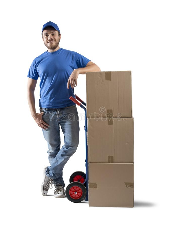 Courier royalty free stock photography