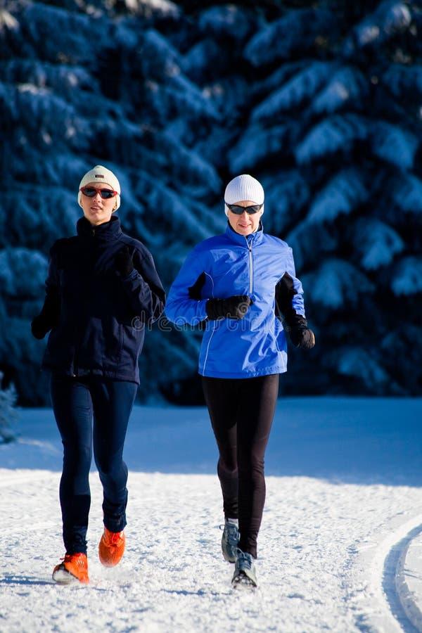 Courir de l'hiver photo libre de droits