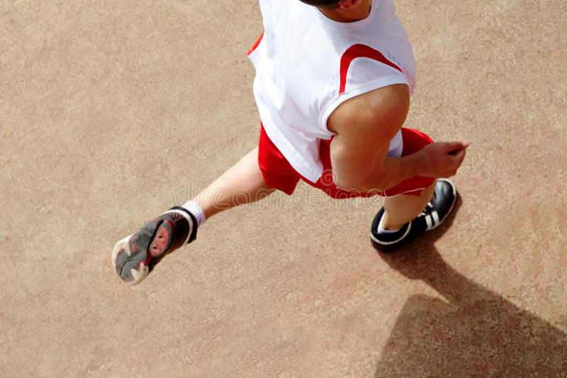 Courir de sportif photographie stock