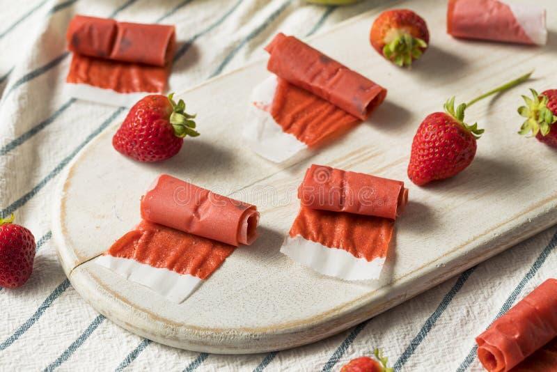 Couro caseiro doce do fruto da morango imagem de stock