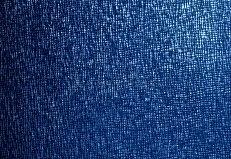 Couro com teste padrão abstrato na cor dos azuis marinhos foto de stock