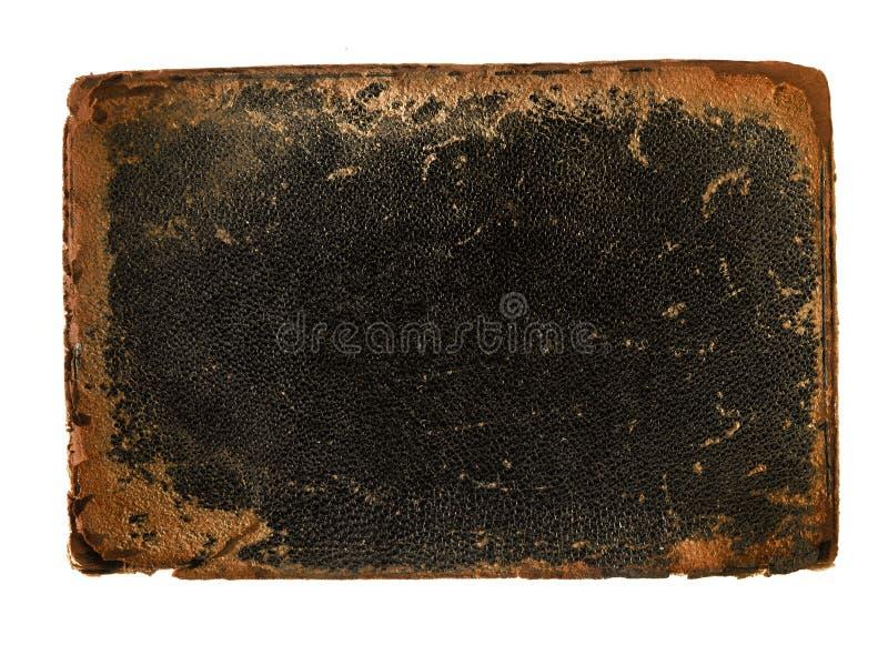 couro da tampa de livro com bordas desgastadas ásperas imagens de stock