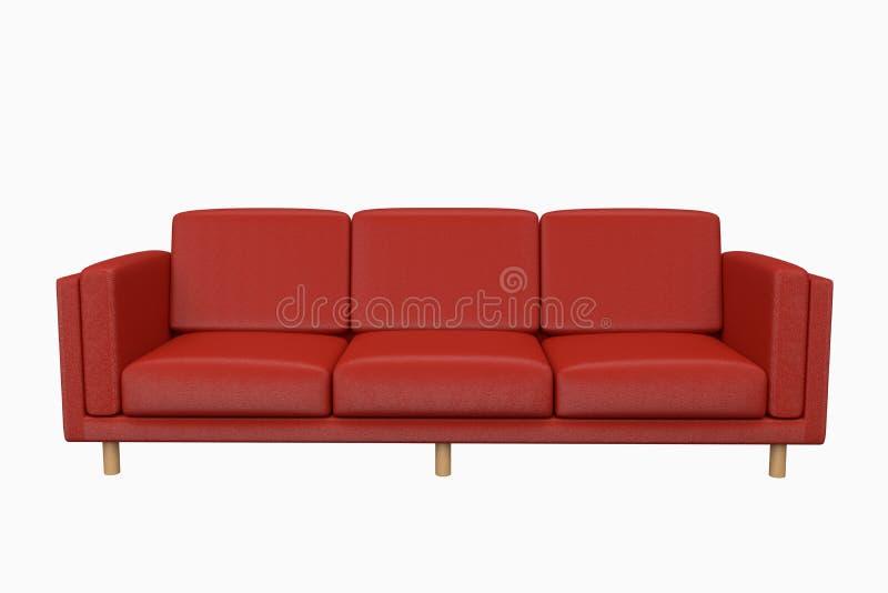 Couro do sof? no fundo branco para o uso nos gr?ficos, na foto que editam, nos sof?s, em v?rias cores, em vermelho, em preto, em  ilustração stock