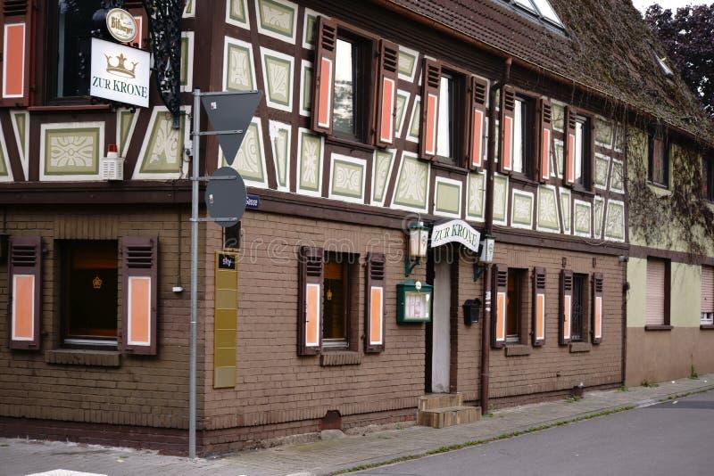 Couronne Bischofsheim de Zur de restaurant photos stock