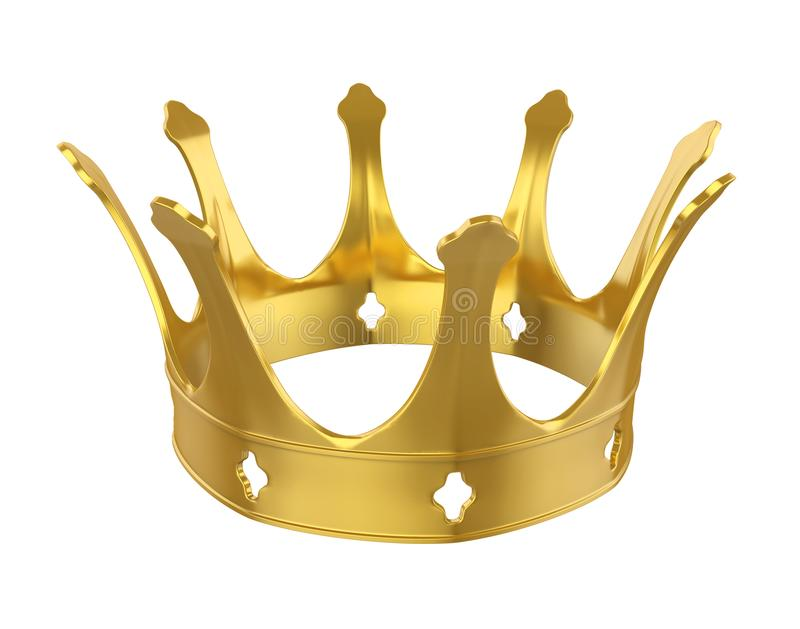 Couronne d'or d'isolement illustration stock