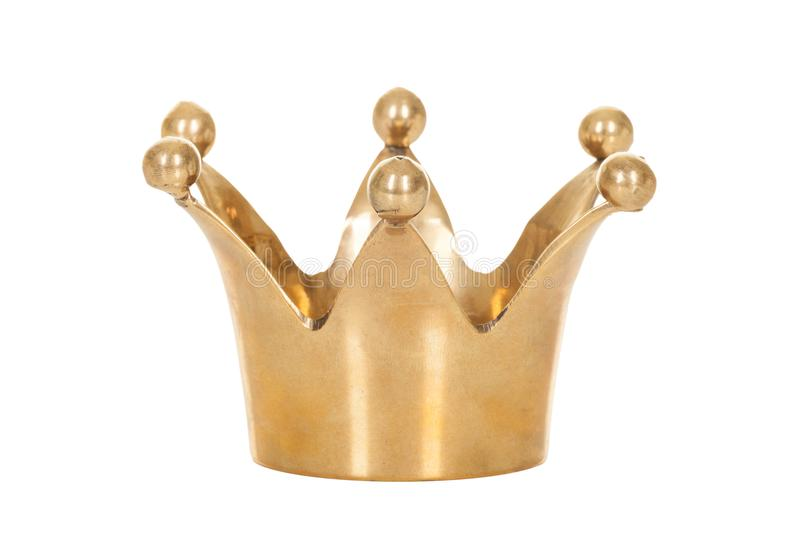 Couronne d'or royale d'isolement sur le fond blanc photo libre de droits
