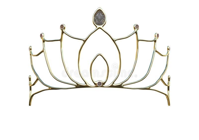 couronne de la Reine du rendu 3D sur le blanc image stock