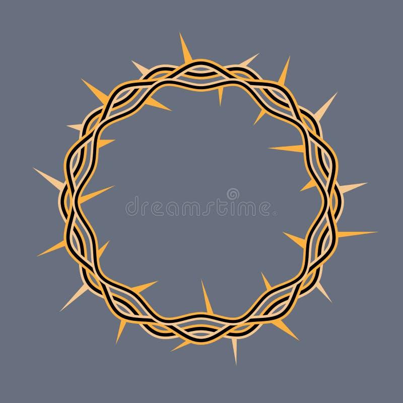 Couronne des épines de l'illustration du Christ illustration libre de droits
