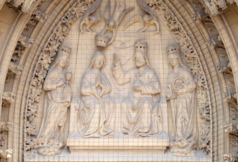 Couronnement de la Vierge photographie stock libre de droits