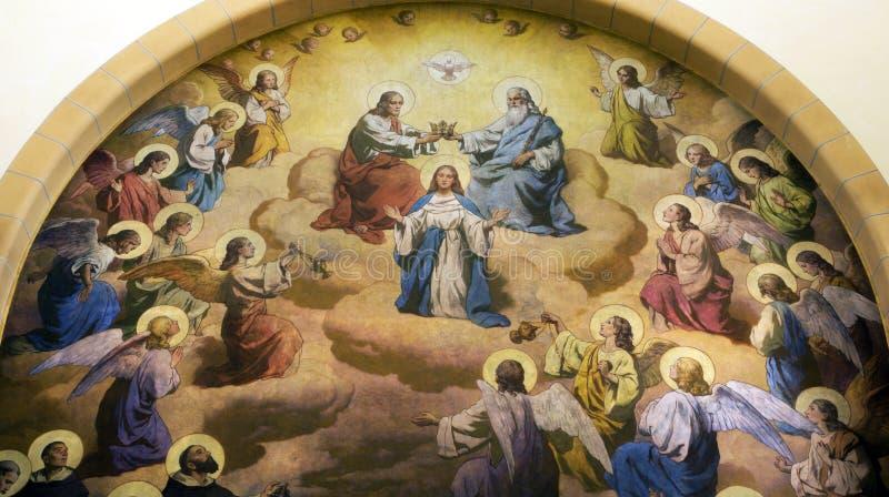 Couronnement de Mary sainte photographie stock