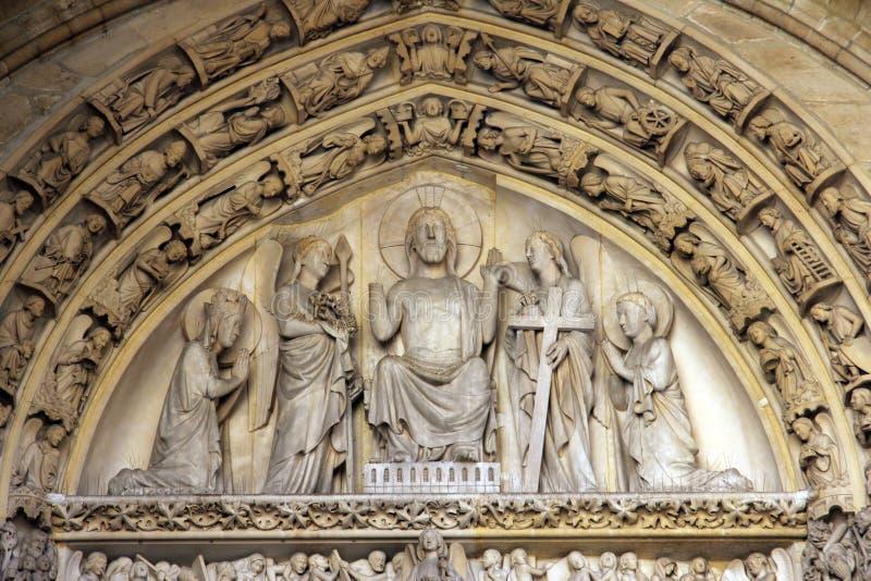 Couronnement de Vierge Marie photos libres de droits
