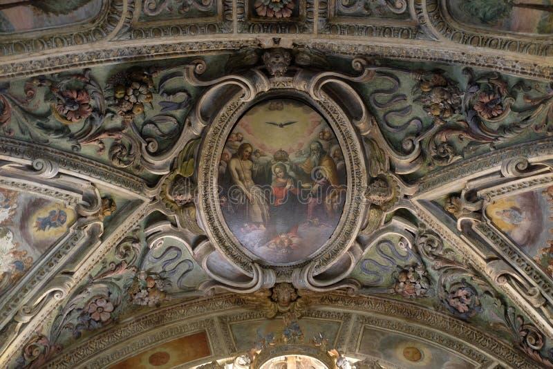 Couronnement de Vierge Marie photographie stock