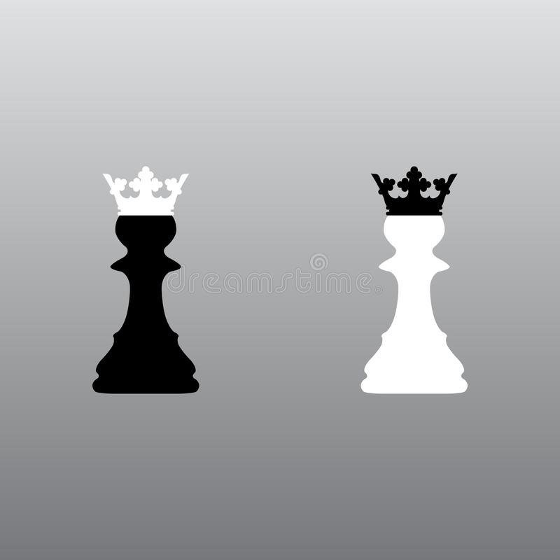 Couronnes de gage d'échecs illustration stock