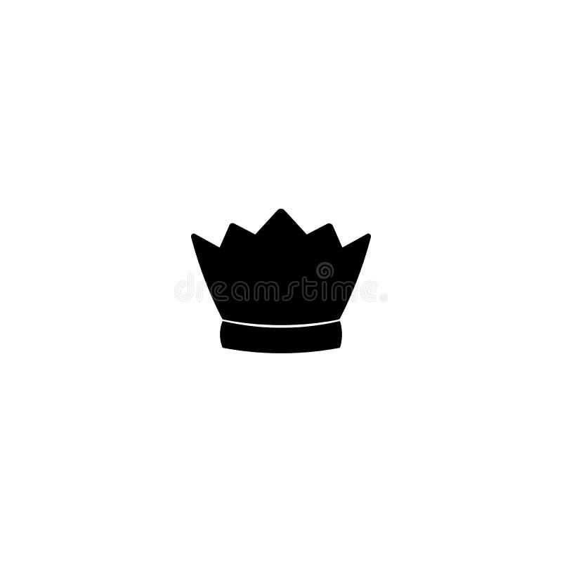 Couronnez l'icône dans le style plat à la mode d'isolement sur le fond blanc Illustration de vecteur illustration libre de droits