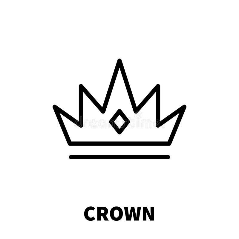 Couronnez l'icône ou le logo dans la ligne style moderne illustration de vecteur