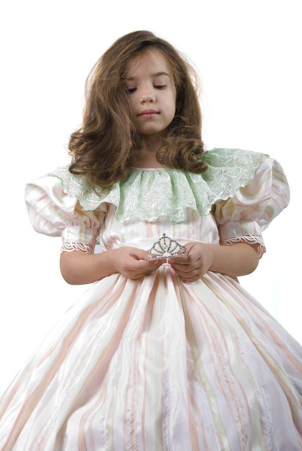 couronnez la petite princesse photographie stock libre de droits