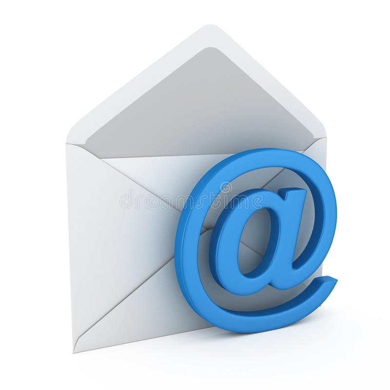 Courrier avec le symbole d'email illustration stock
