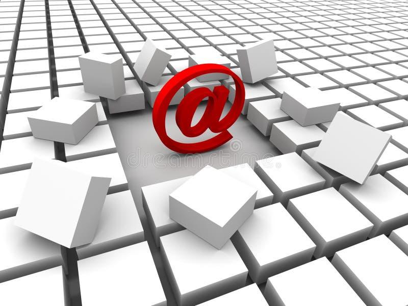 courrier d'Internet illustration de vecteur