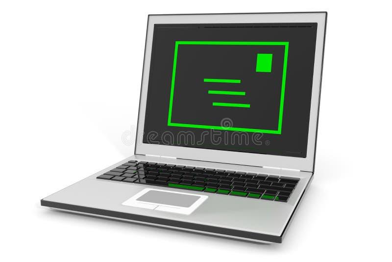 Courrier d'ordinateur portatif. illustration libre de droits