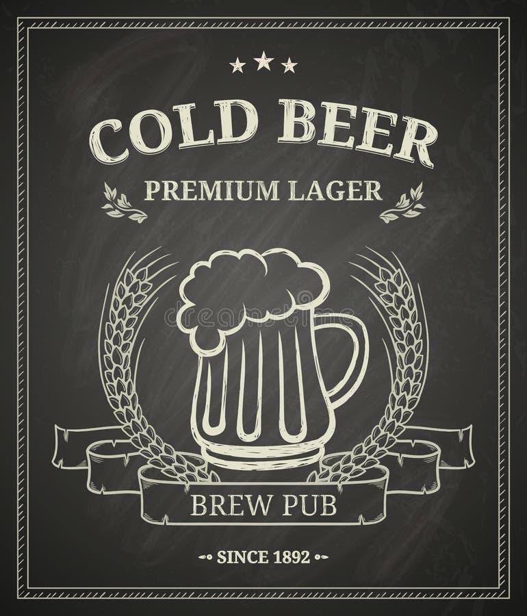 Courrier de bière froide illustration de vecteur