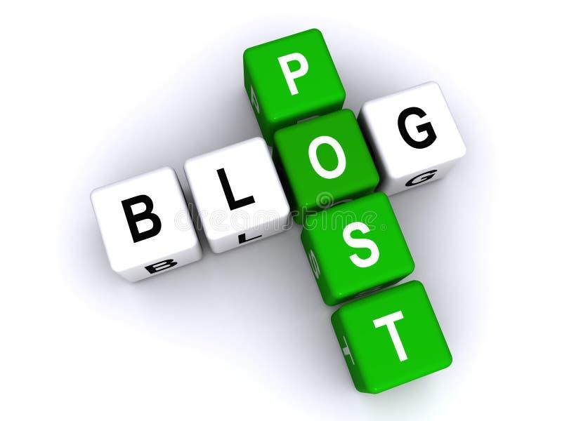 Courrier de blog illustration libre de droits