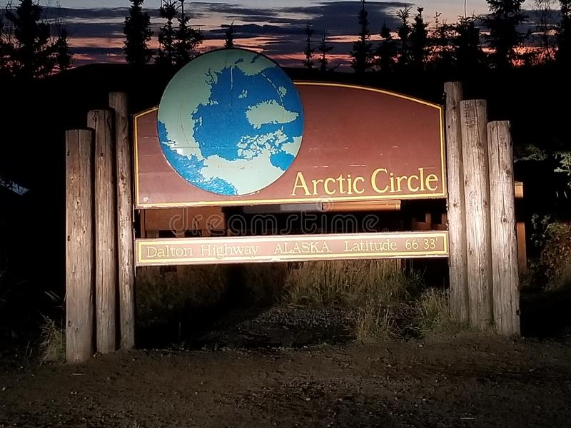 Courrier de cercle arctique image libre de droits