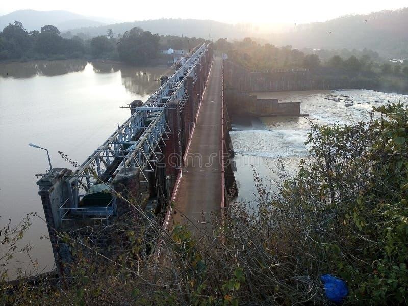 Courrier de contrôle de barrage de frontière d'andhra et d'odisha photographie stock libre de droits