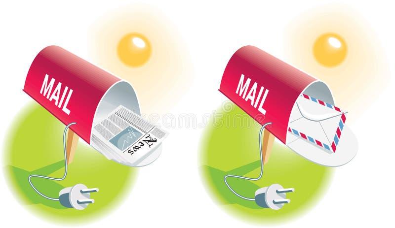 courrier de graphisme d'e illustration stock
