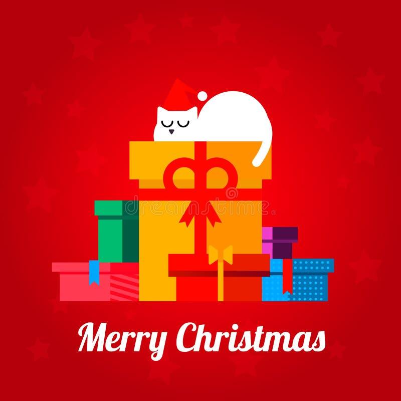 Courrier de Joyeux Noël illustration libre de droits