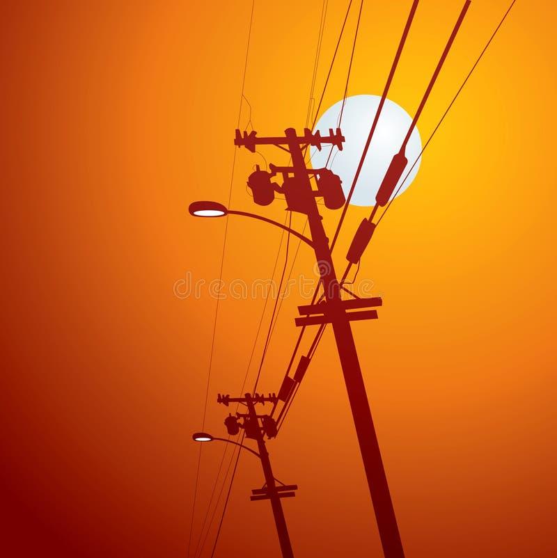 Courrier de l'électricité   illustration de vecteur