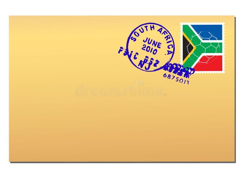 Courrier de l'Afrique du Sud illustration stock