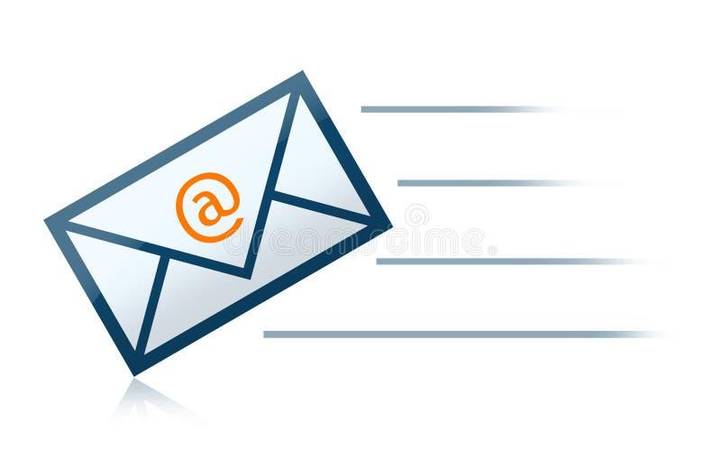 courrier de lettre d'enveloppe d'e illustration stock