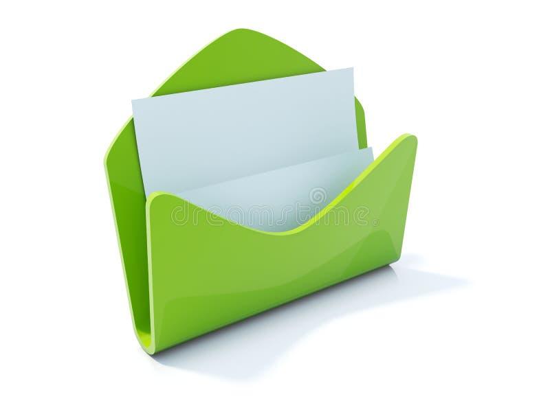 courrier de lettre de graphisme illustration stock