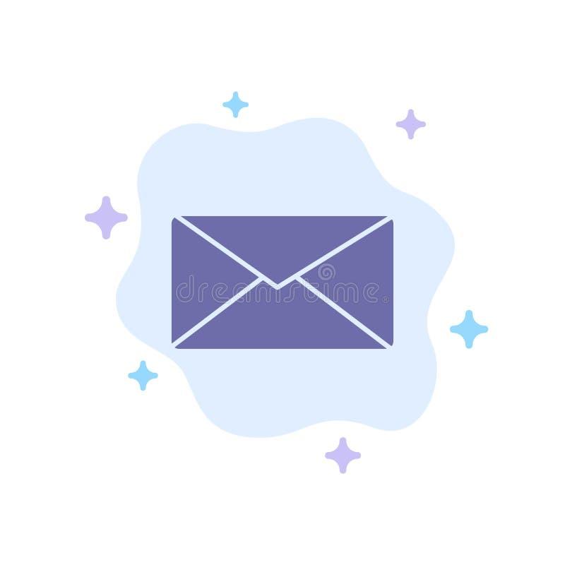 Courrier, email, utilisateur, icône bleue d'interface sur le fond abstrait de nuage illustration stock