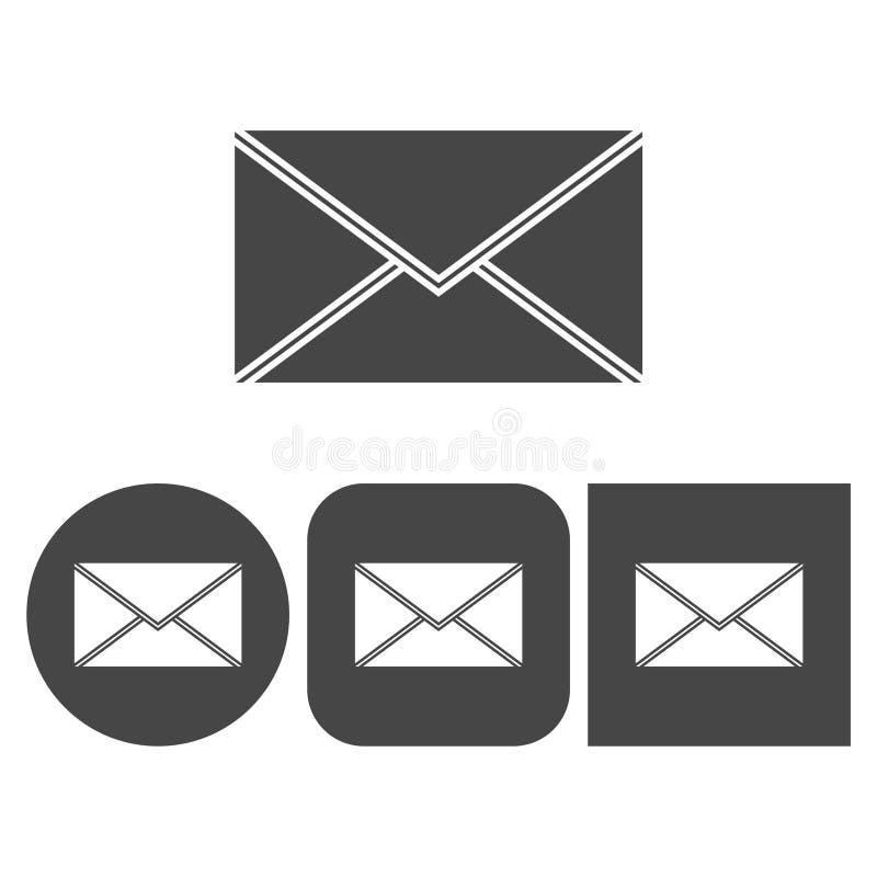 Courrier - icône de vecteur illustration stock