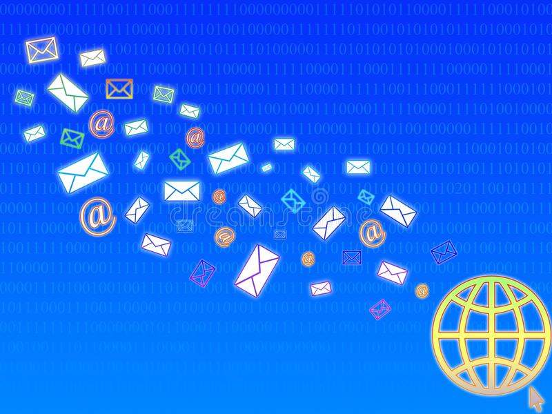 Courrier net image libre de droits