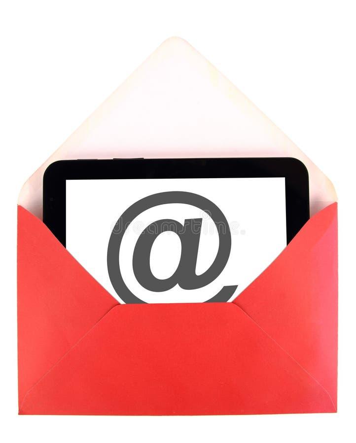 Courrier sur la tablette image stock