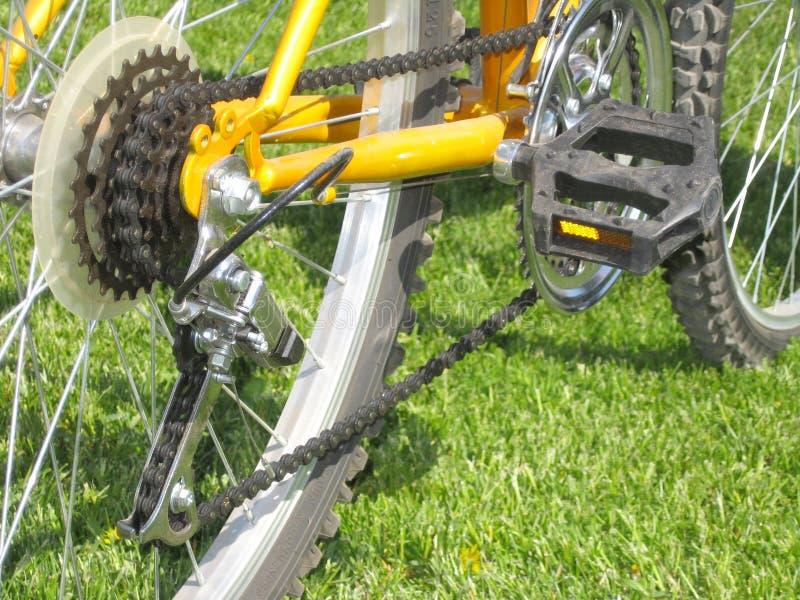 Courroie à chaînes de vélo photos libres de droits